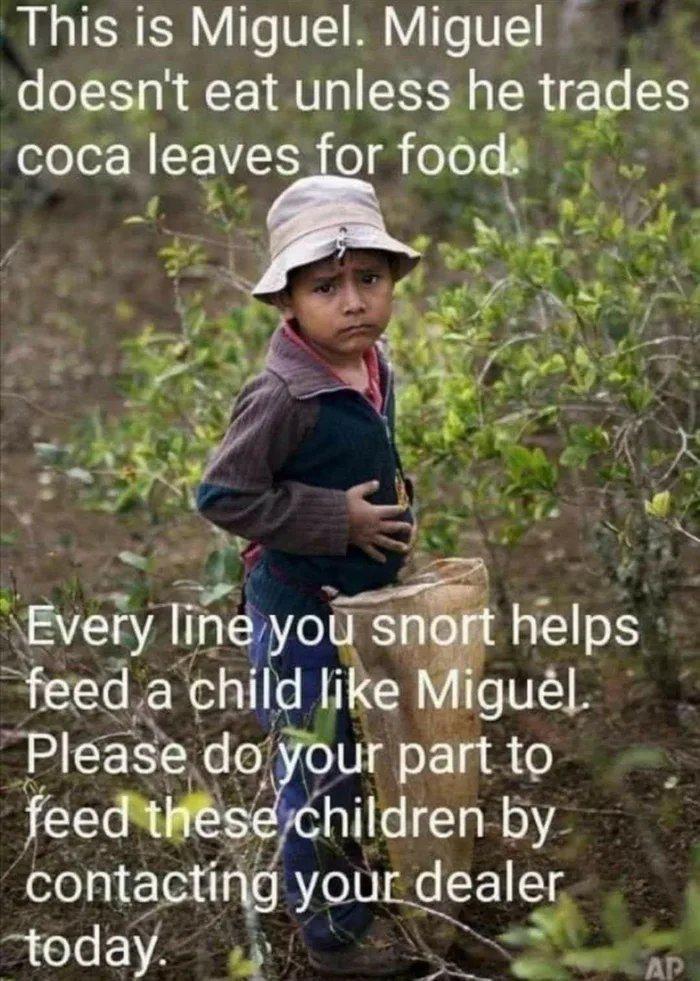 Obrázek Help-a-kid-snort-a-line-today