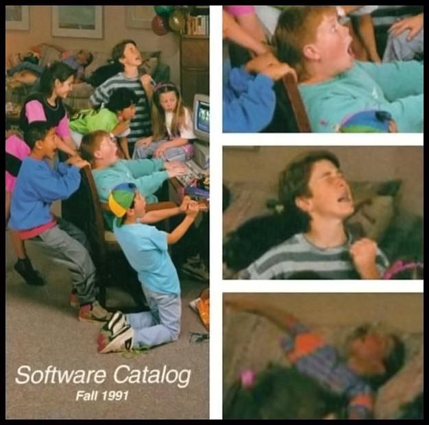 Obrázek Kids in the 90s playing games on a PC