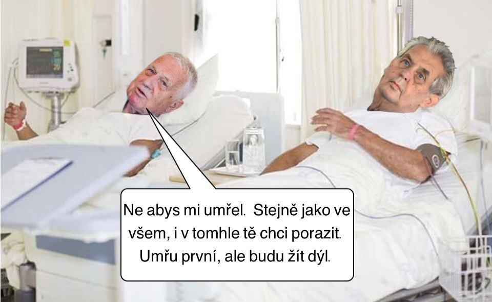 Obrázek KlausseZemanemvnemocnici