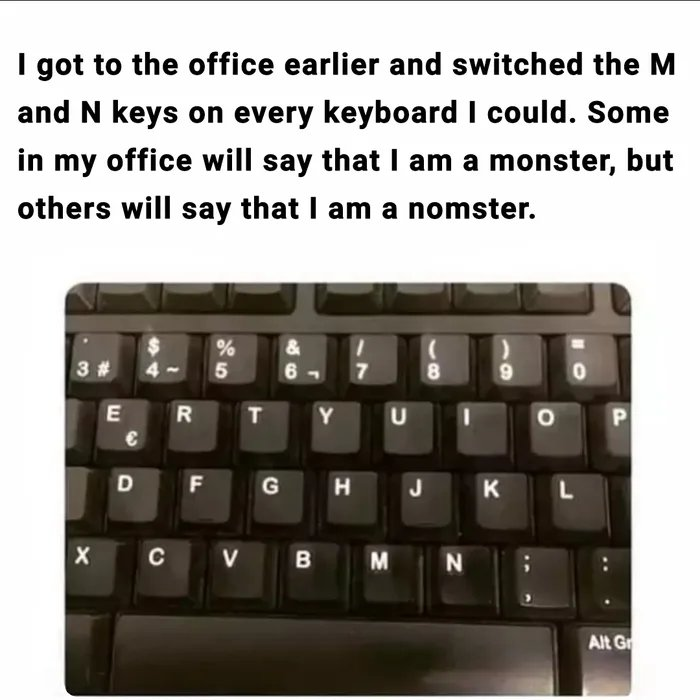 Obrázek Madlads-replaced-the-m-and-n-keys-for-the-entire-office