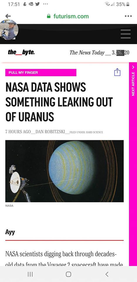 Obrázek Someone at NASA has been waiting for years to type that headline