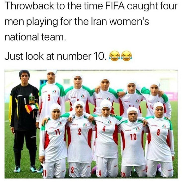 Obrázek Throwback To Irans Womens Soccer Team