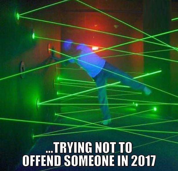 Obrázek Trying Not To Offend Someone In 2017