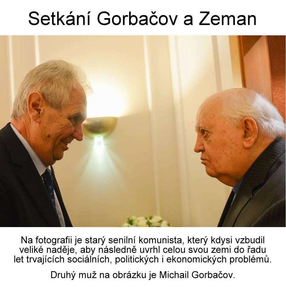 Obrázek ZemanaGorbacov