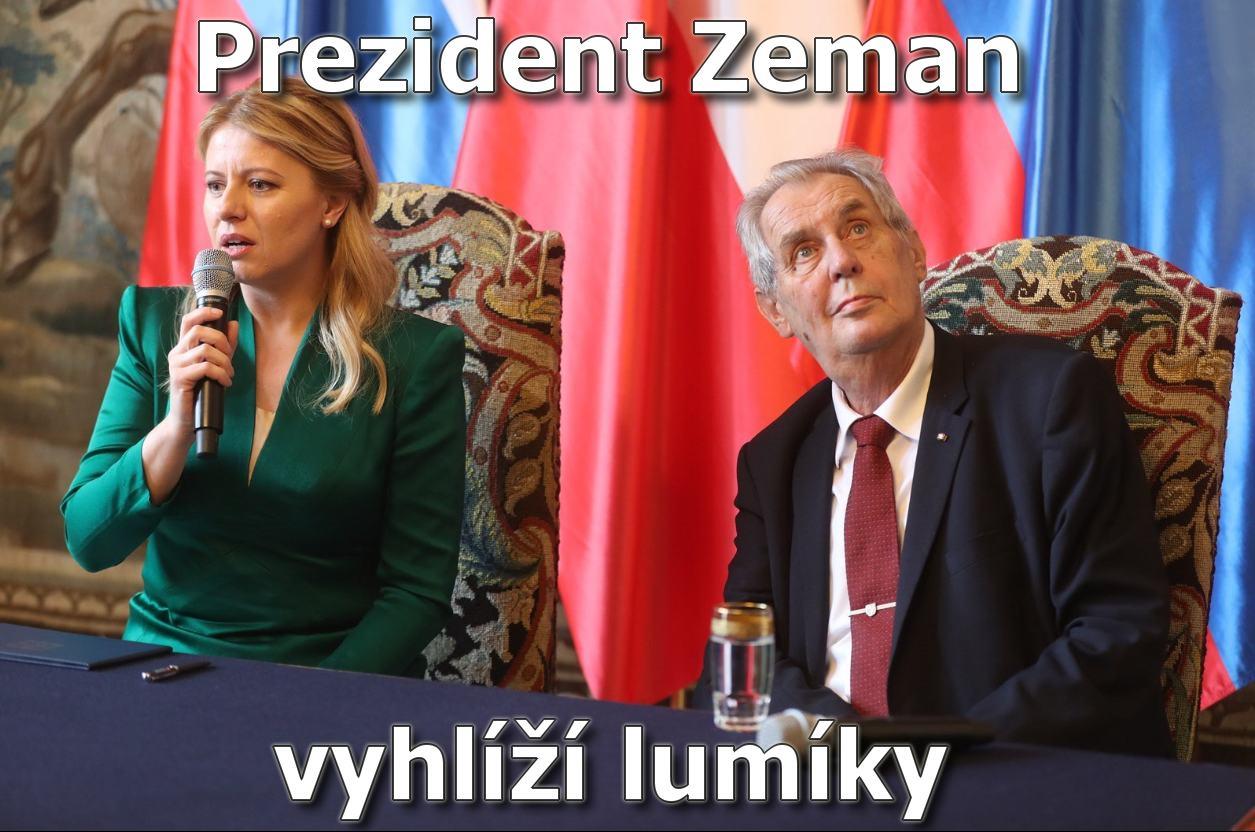 Obrázek ZemanvyhliziLumikyMEME
