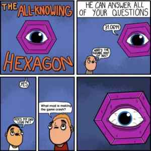Obrázek 'All knowing hexagon'