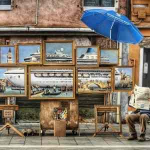 Obrázek 'BanksysiautoinvitaallaBiennaleconlasuaoperaVeniceinOil'