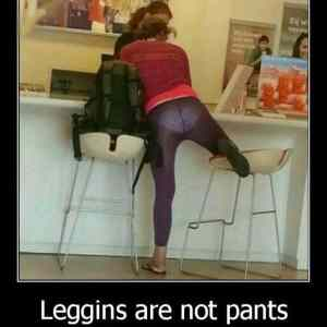 Obrázek 'Leggings Are Not Pants  '