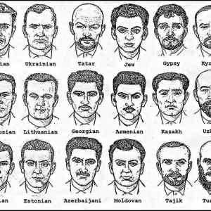 Obrázek 'Soviet police sketches to identify suspects based on ethnicity'