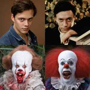 Obrázek 'how similar a young Tim Curry and Bill Skarsgard are'