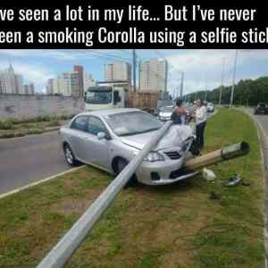 - corolla smoking a cigar . -