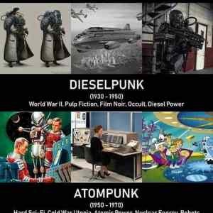 From dieselpunk to cyberpunk