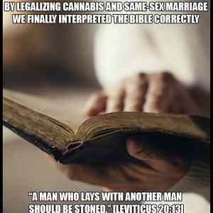 God Wants Cannabis and Same-Sex Marriage