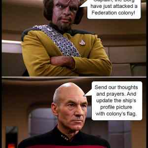 Meanwhile On Star Trek