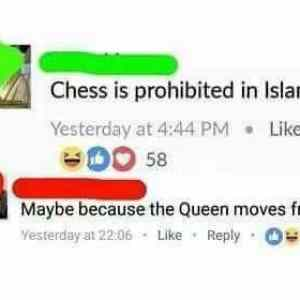 chess is prohibited by islam