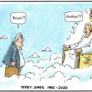 terry jones in heaven